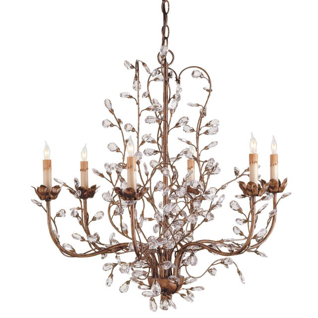 Currey & Company Currey and Company Crystal Bud Chandelier For Sale - Image 4 of 4