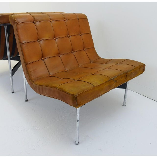 Pair of Two Armchairs by William Katavolos for Icf Milano, 1990 Italy For Sale - Image 6 of 8