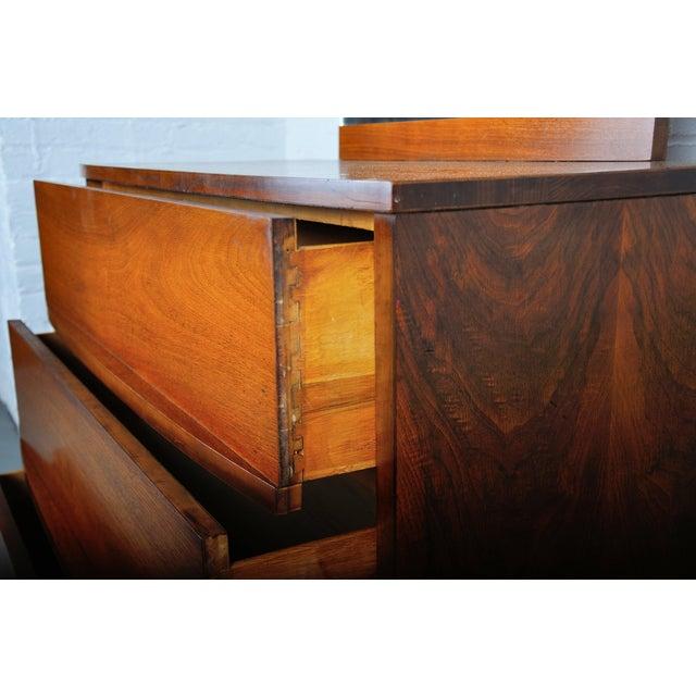 Mid-Century Modern Walnut Vanity Dresser For Sale - Image 9 of 13