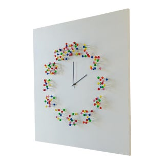Modern Pop Art Wall Clock For Sale