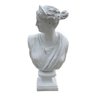 Large Scale Mid-Century Classical Bust of Diana For Sale