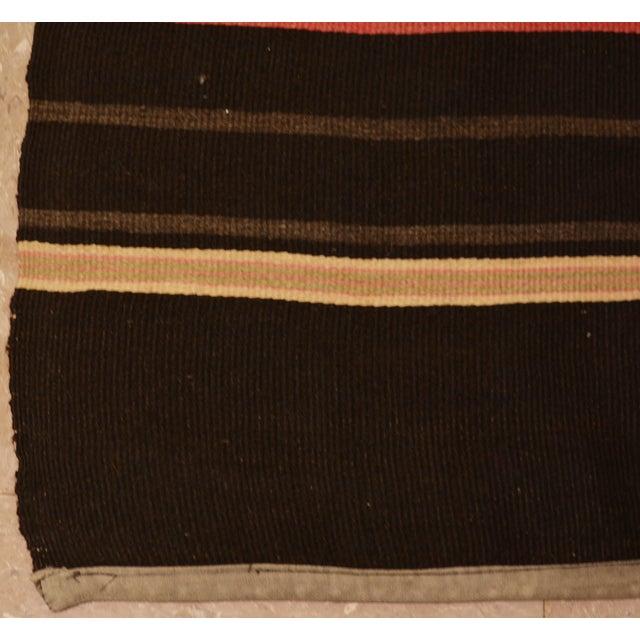 "1950s Turkish Brown and Burnt Orange Wool Kilim Rug - 2'3""x5'3"" For Sale - Image 4 of 5"