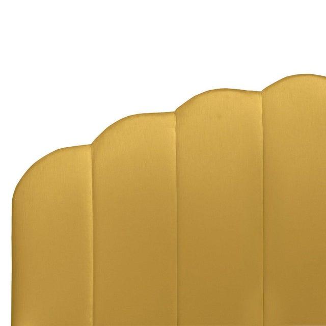 Cloth & Company California King Shell Platform Bed in Monaco Citronella For Sale - Image 4 of 7
