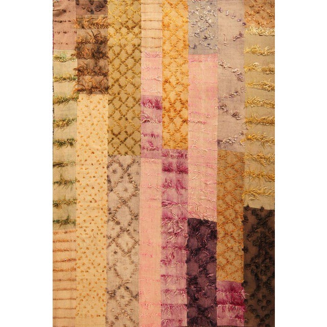 Hand Knotted Pile & Flat Vintage Rug - 6′8″ × 9′9″ For Sale In New York - Image 6 of 6