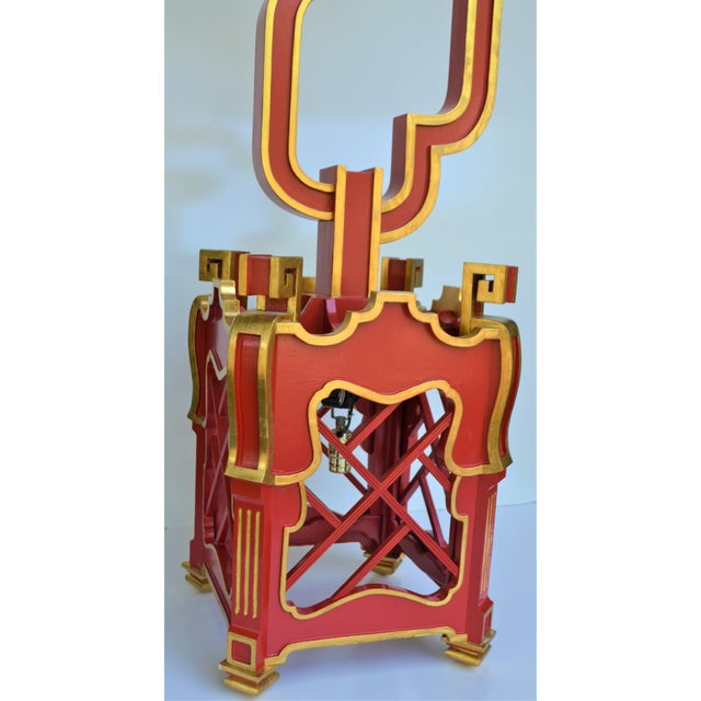 Custom Wooden Chinoiserie Pagoda Lantern, Designed by George Weinle For Sale - Image 12 of 13