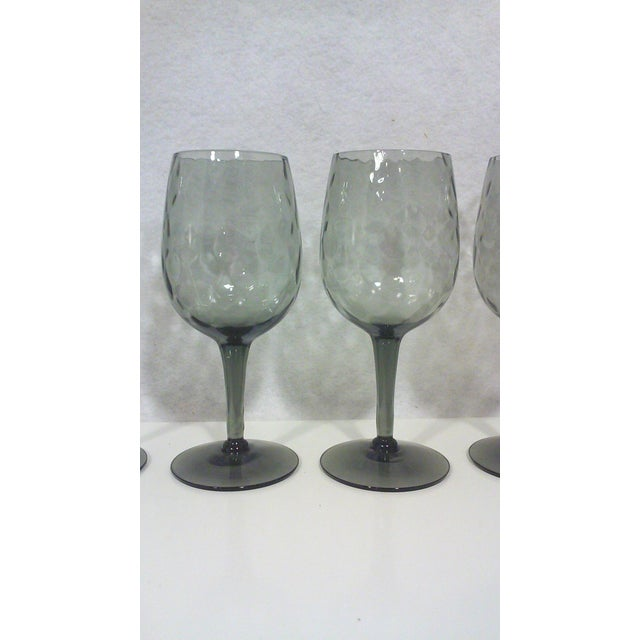 Empoli Italian Smoked Glass Cordial Stemware - Set of 6 For Sale - Image 5 of 5