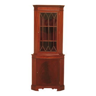 Bevan Funnell English Mahogany Corner Cabinet For Sale