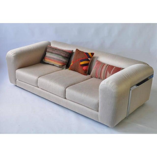 Mid-Century Modern 1970s Chrome Frame Sofa For Sale - Image 3 of 6