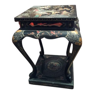 19th Century Japanese Meiji Lacquer Stand or Side Table For Sale
