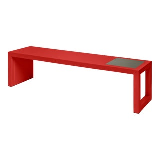 Temple Coffee Table in Chinese Red - Veere Grenney for The Lacquer Company For Sale