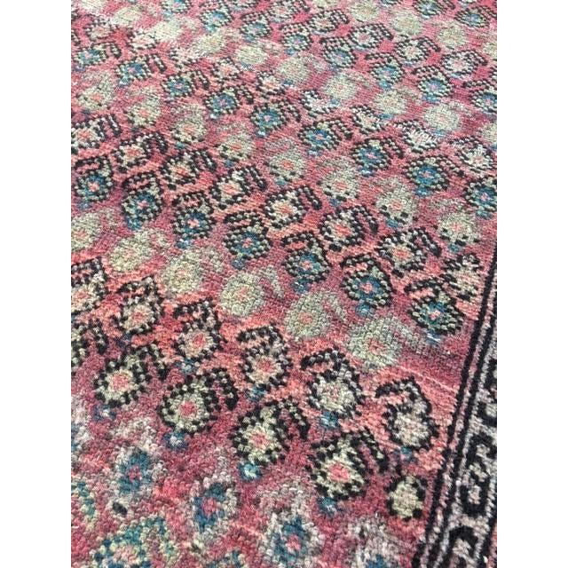 "Antique Hamadan Rug - 3'4"" X 6'6"" - Image 5 of 9"