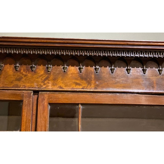 Wood 18th Century Chippendale Breakfront For Sale - Image 7 of 10