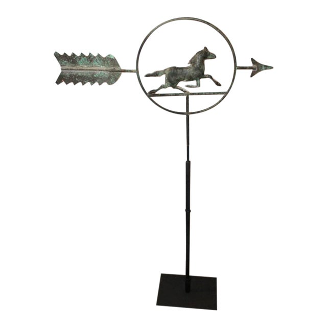 19th Century Running Horse within a Circle Weathervane on Stand - Image 1 of 7