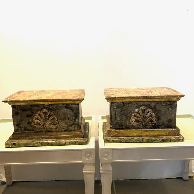 Wood 18th C. Carved Wood Decorative Wall Shelves - a Pair For Sale - Image 7 of 7