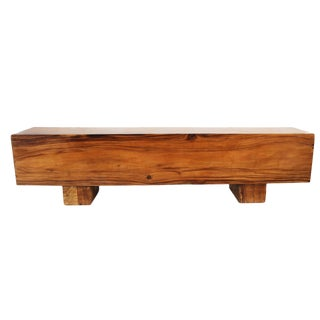 Modern Saur Wood Block Bench