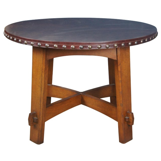 Mission Stickley Commemorative Library Center Table For Sale - Image 13 of 13
