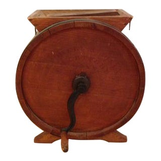 Antique Butter Churn With Optional Table Top For Sale