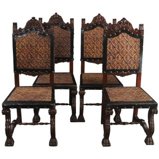 Dining Chairs Renaissance Castle Lions - Set of 4 For Sale