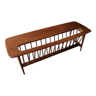 Extremely Rare Mid Century Walnut Magazine Rack/Table by Arthur Umanoff