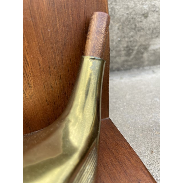 Metal Brass & Walnut Golf Club Bookends For Sale - Image 7 of 11