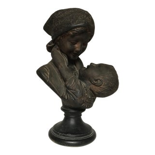 """Emilio Fiaschi """"Mother and Child"""" Bust"""