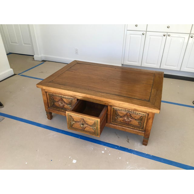 Hand Carved Coffee Table - Image 4 of 6