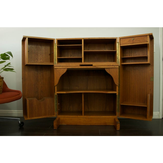 Mummenthaler & Meier Mid-Century Teak Hideaway Desk For Sale - Image 5 of 11