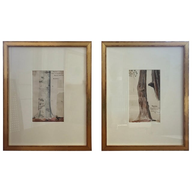 Traditional Charles De Wolf Brownell Watercolors - a Pair For Sale