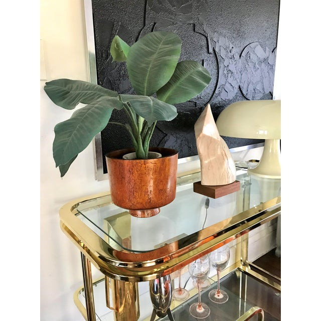 Mid-Century Modern 1950s Mid Century Turned Wood Footed Planter For Sale - Image 3 of 8