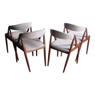 Kai Kristiansen Teak Chairs – Set of 4 For Sale