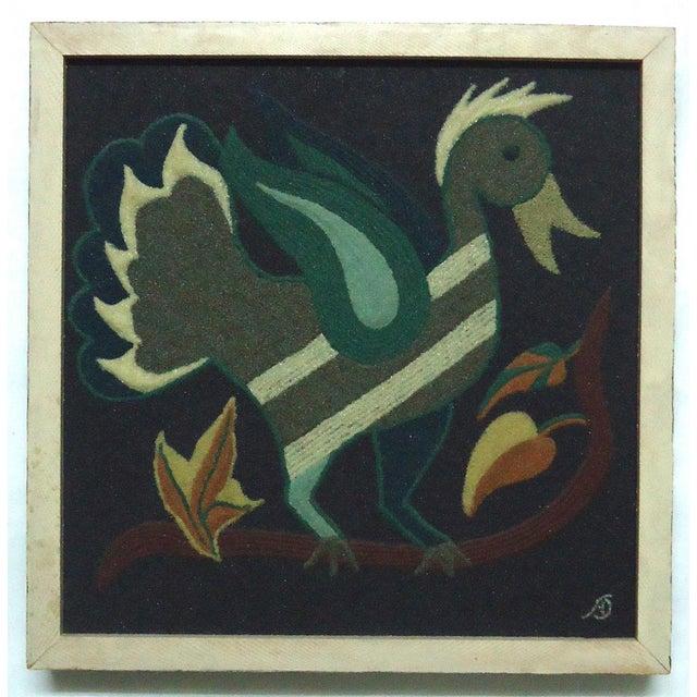 Folk Art Duck Sand Painting - Image 2 of 9