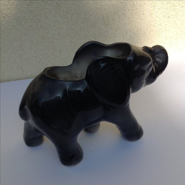 Vintage Large Ceramic Elephant Planter Vase Chairish