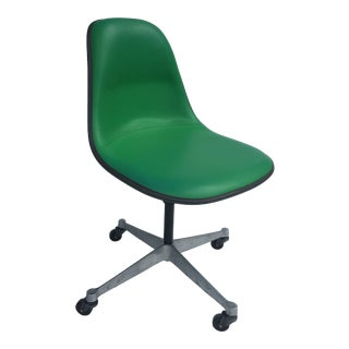 1970s Vintage Eames for Herman Miller Kelly Green Fiberglass PSCC Chair For Sale