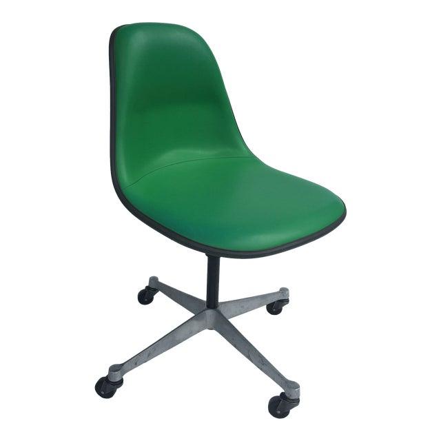 1970s Vintage Eames for Herman Miller Kelly Green Fiberglass PSCC Chair For Sale