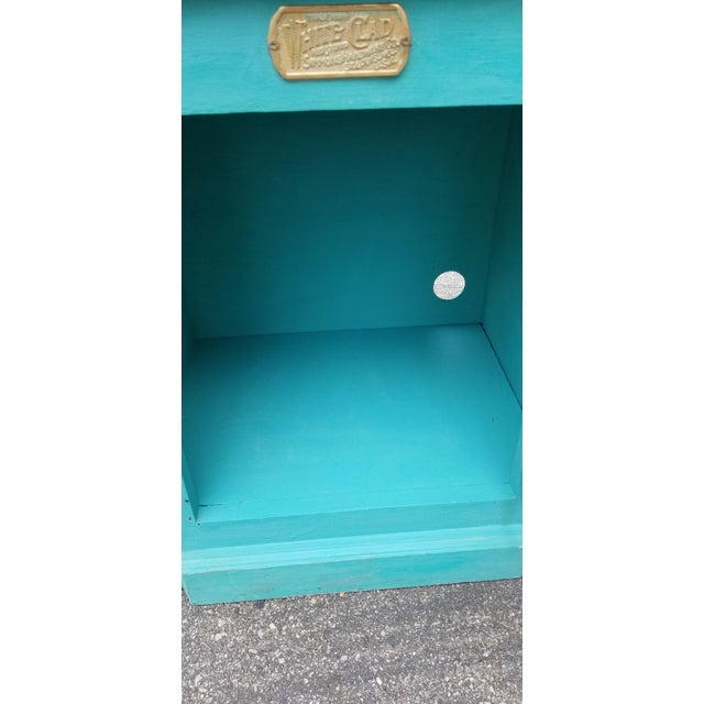 1990s French Country White Clad Turquoise Nightstands - a Pair For Sale - Image 11 of 12