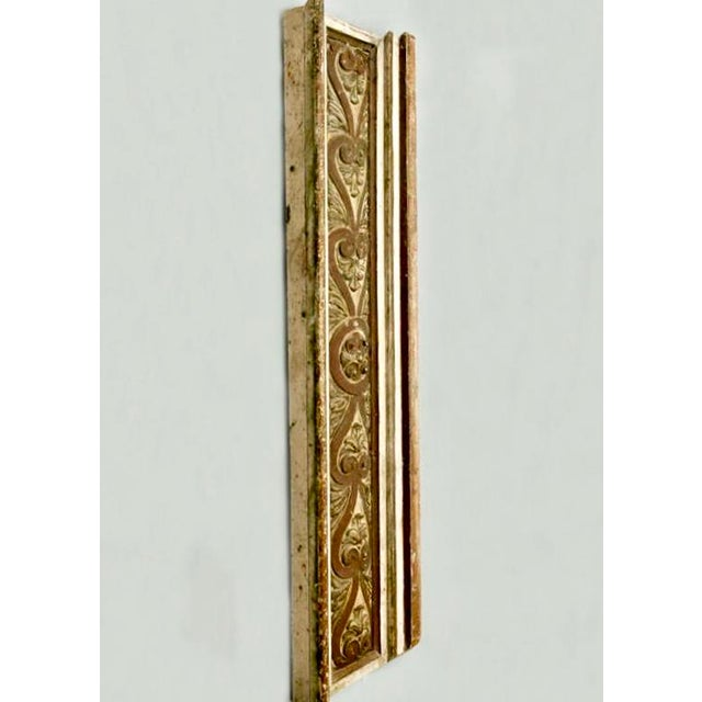 French French Gilded Hand Carved Architectural Element Wall Panel c.1900 For Sale - Image 3 of 5