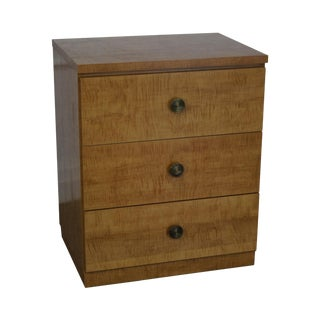 Lane Mid-Century Modern Tiger Maple Chest For Sale