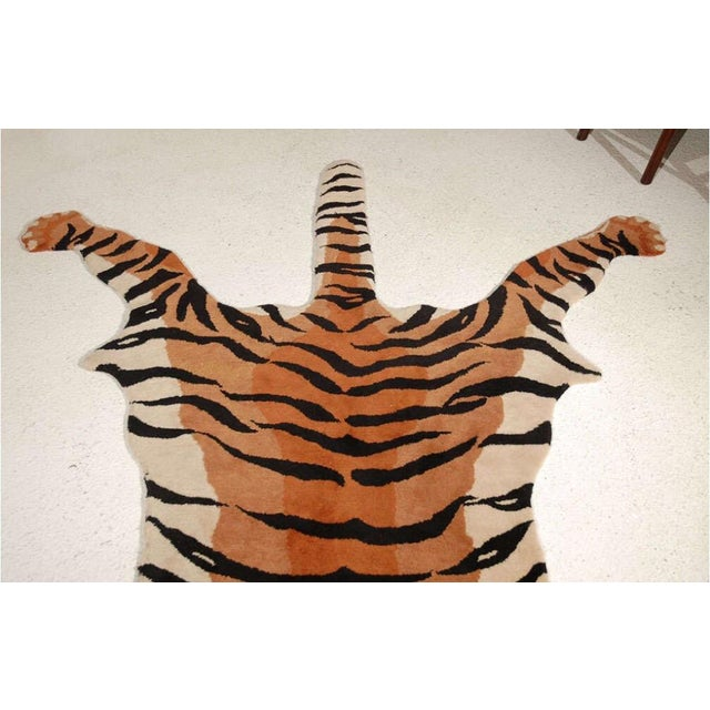 Vintage Wool Tiger Rug - Image 5 of 6