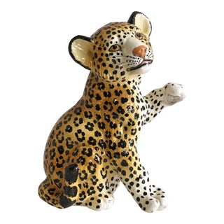 Vintage 1960s Italian Baby Leopard Statue