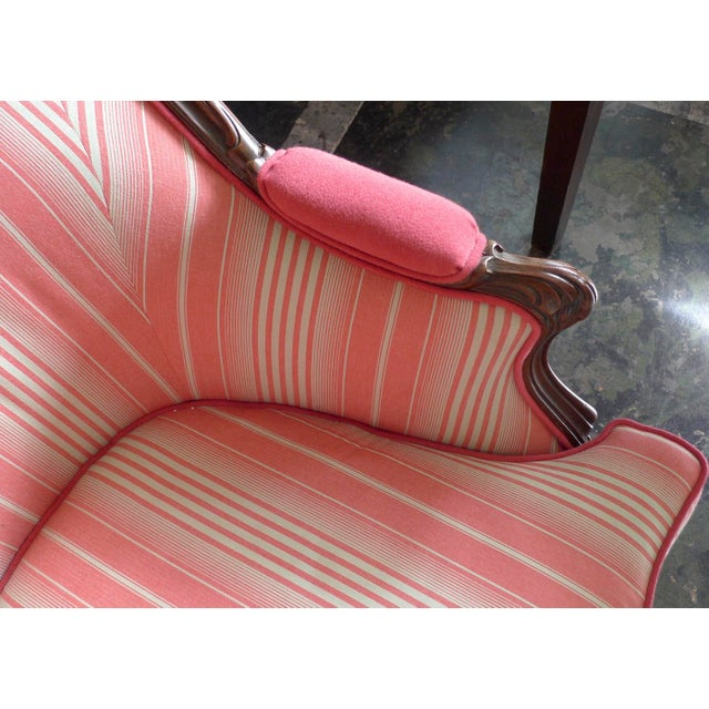 19th Century French Walnut Bergere Armchair Reupholstered With New Fabric. For Sale In Los Angeles - Image 6 of 11
