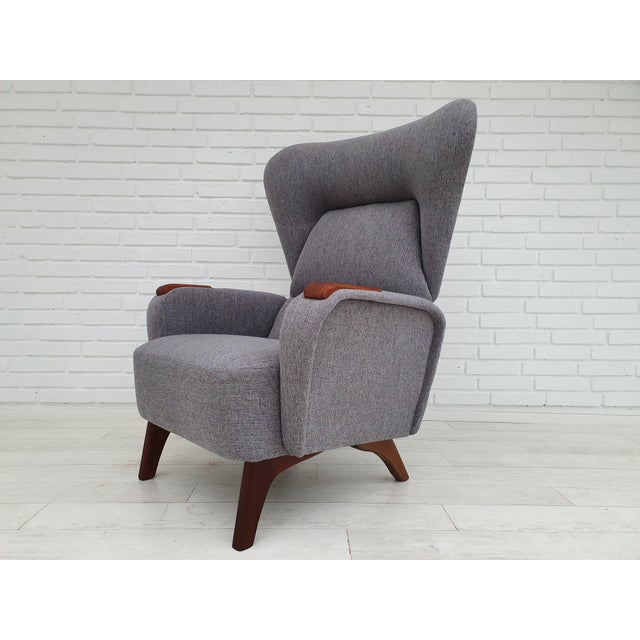 1970s Vintage Danish Lounge Chair For Sale - Image 6 of 13