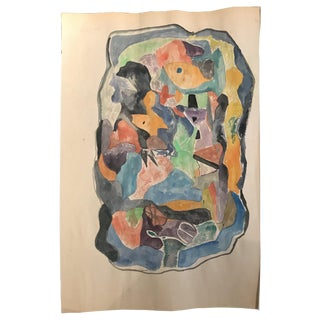 1967 Tadeusz Brzozowski Mid-Century Modern Abstract Painting For Sale