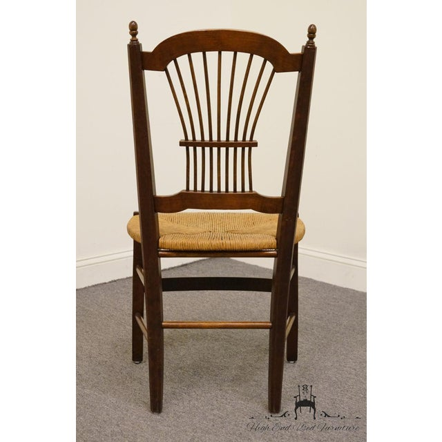 20th Century Early American Solid Cherry Wheat Back Dining Side Chair For Sale In Kansas City - Image 6 of 8