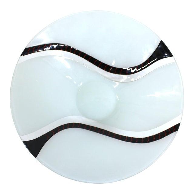 Richard Knopf Postmodern Glass Charger Plate For Sale