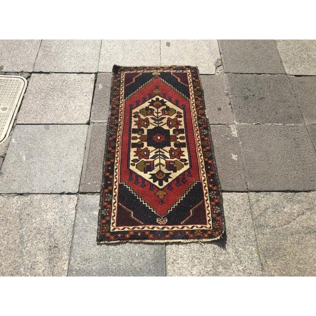 Vintage Handmade Anatolian Rug- 1′10″ × 3′6″ For Sale - Image 6 of 6