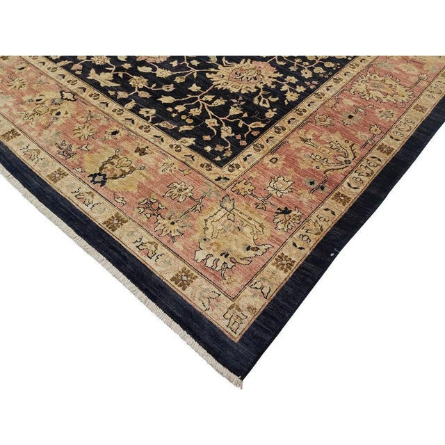 A magnificent bold elegant hand knotted wool rug features a breathtakingly design to compliment any space. Big bold...