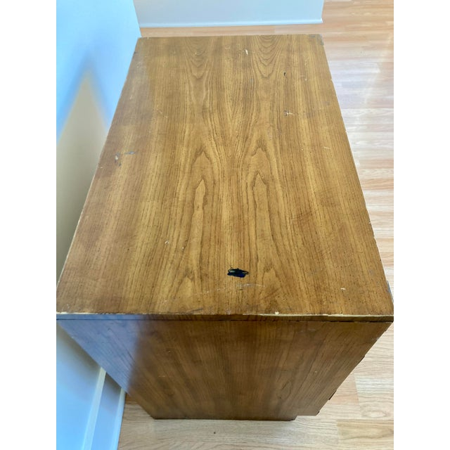Late 20th Century Dixie Campaign 3 Drawer Dresser For Sale In Seattle - Image 6 of 13