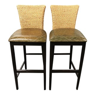 Nancy Corzine Sea Tone Barstools - a Pair For Sale