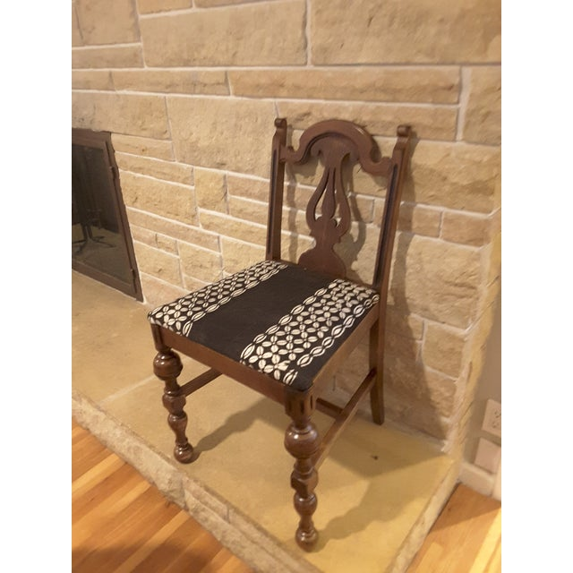 African Vintage Small African Mudcloth Chair For Sale - Image 3 of 6