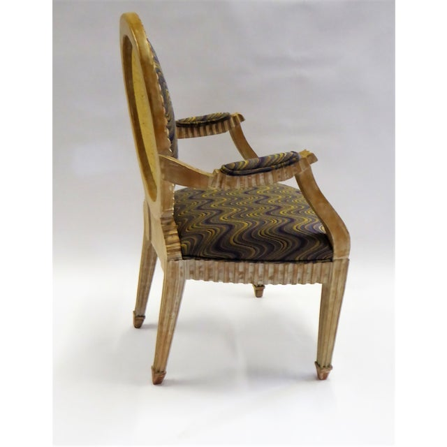 1980s Modern Adaption of Louis XIV Roi Soleil Bergere Armchair , C. 1980s For Sale - Image 5 of 12